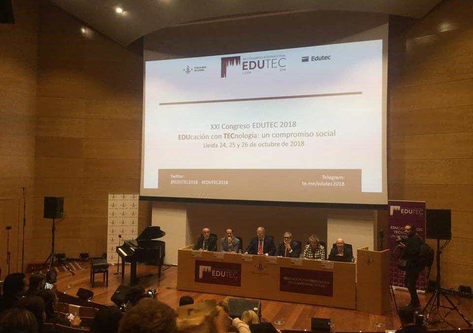 Participación en el  XXI Congreso Internacional EDUTEC